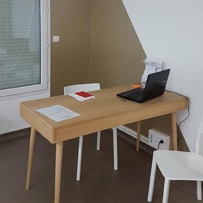 Réalisation de Peinture et Sol technique dans un cabinet médical à Orléans - Mathieu Peinture